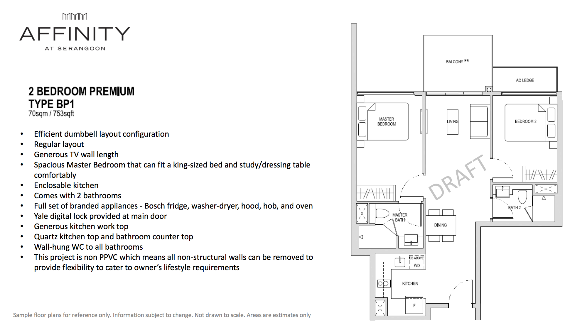 Affinity At Serangoon Floor Plan 2 Bedroom Premium