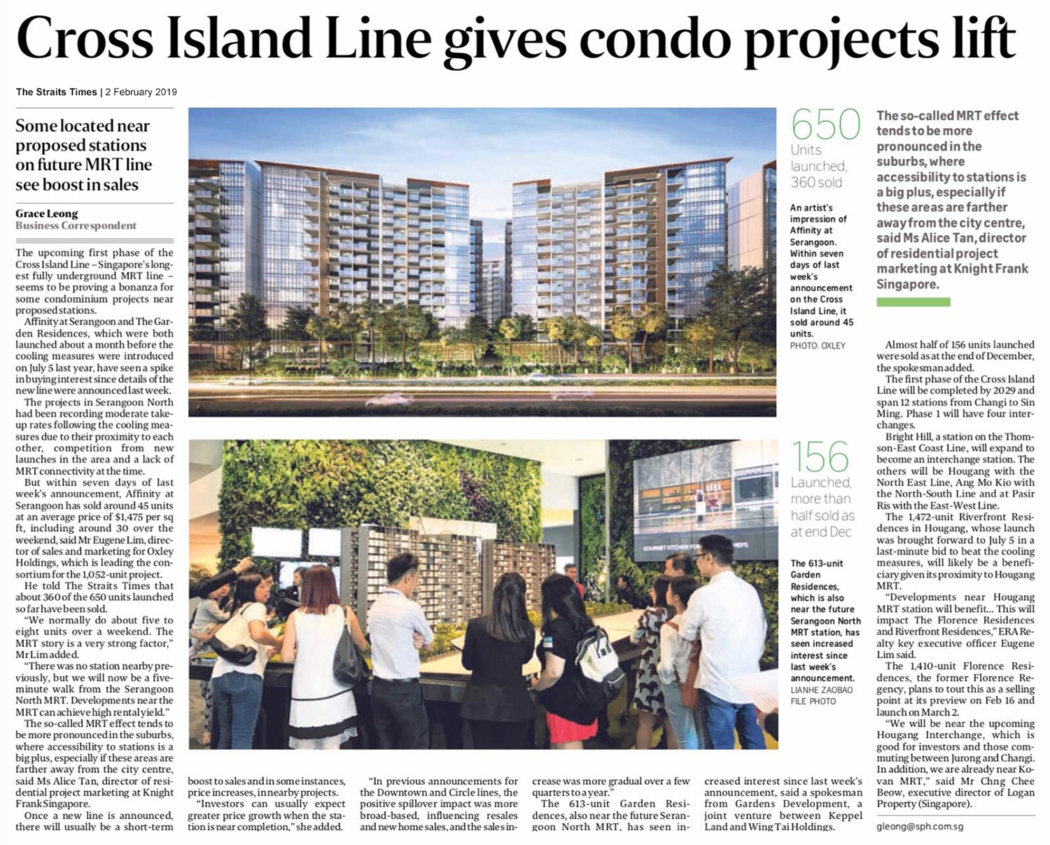 Affinity At Serangoon Cross Island Line Gives Condo Projects Lift