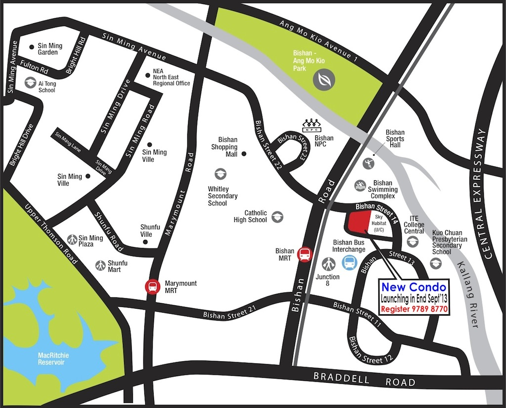 Bishan-Condo-Location-Map