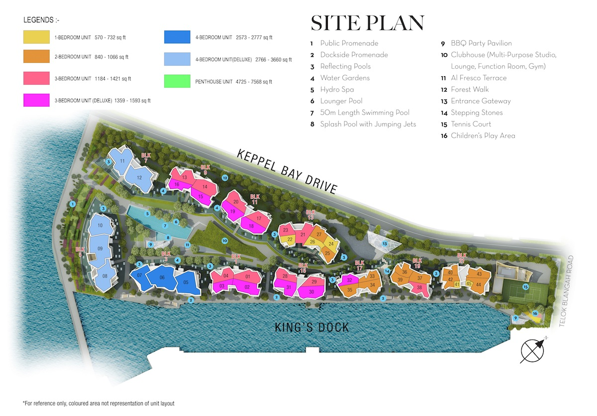 Corals-at-Keppel-Bay-Coloured-Site-Plan
