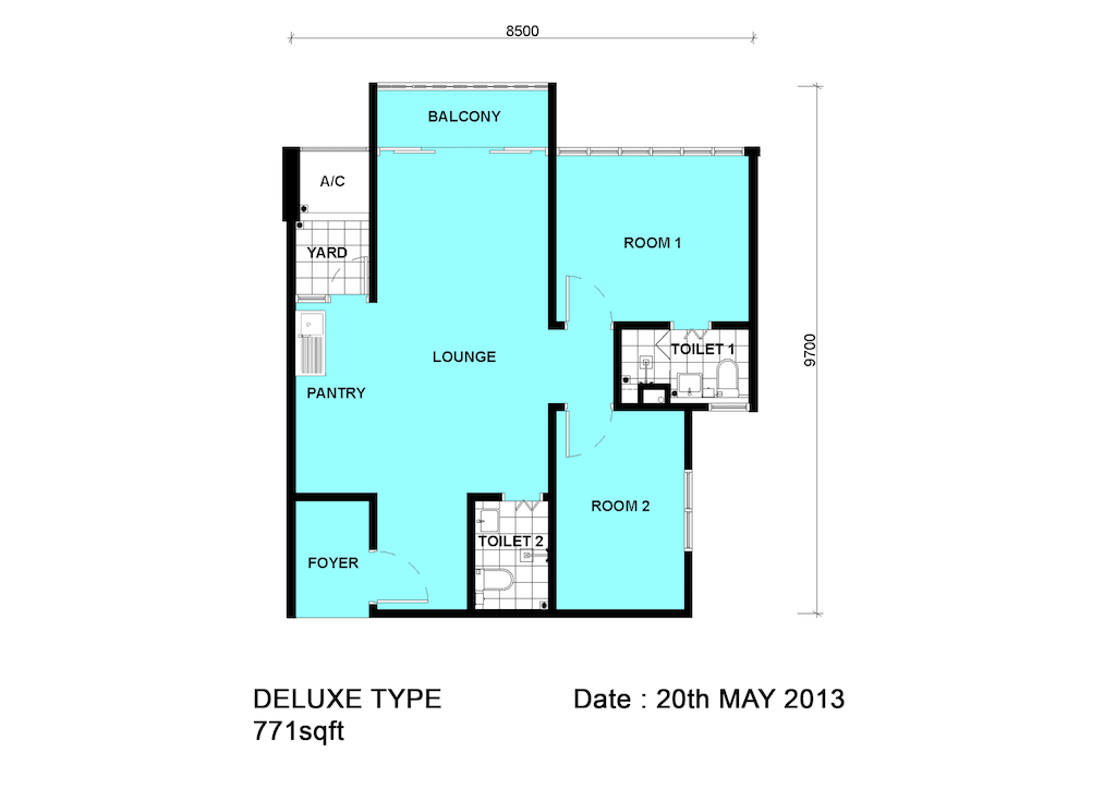 Dpristine-FLoor-Plan-2Bedroom
