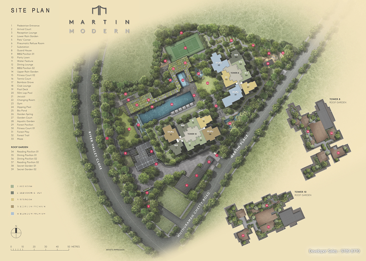 Martin Modern Site Plan Coloured