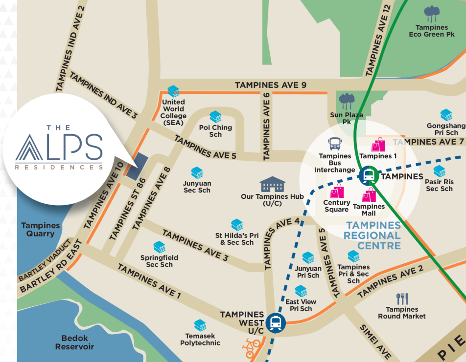 The Alps Residences Location Map