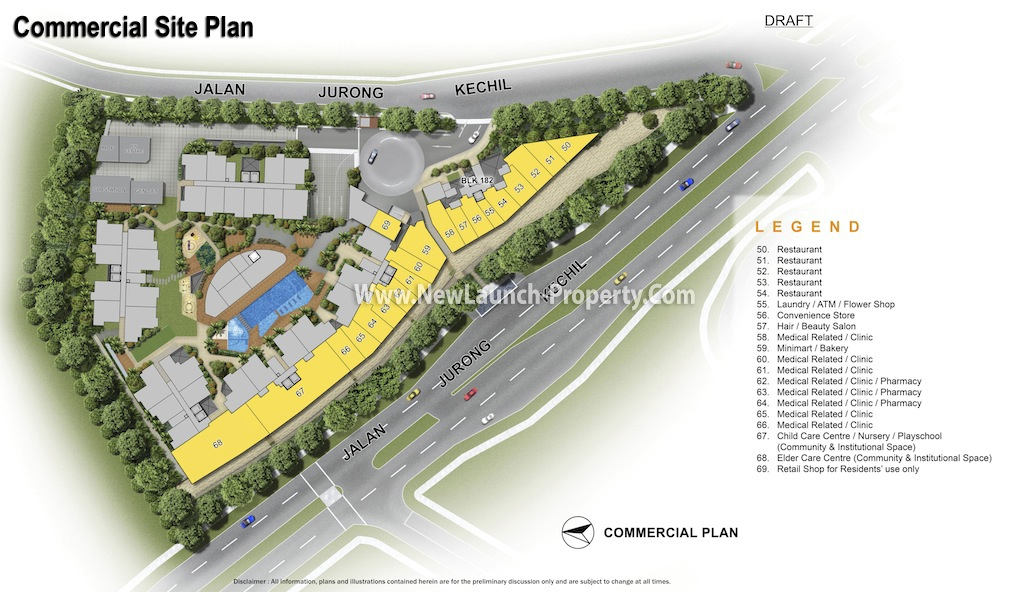 The Hillford Commercial Site Plan