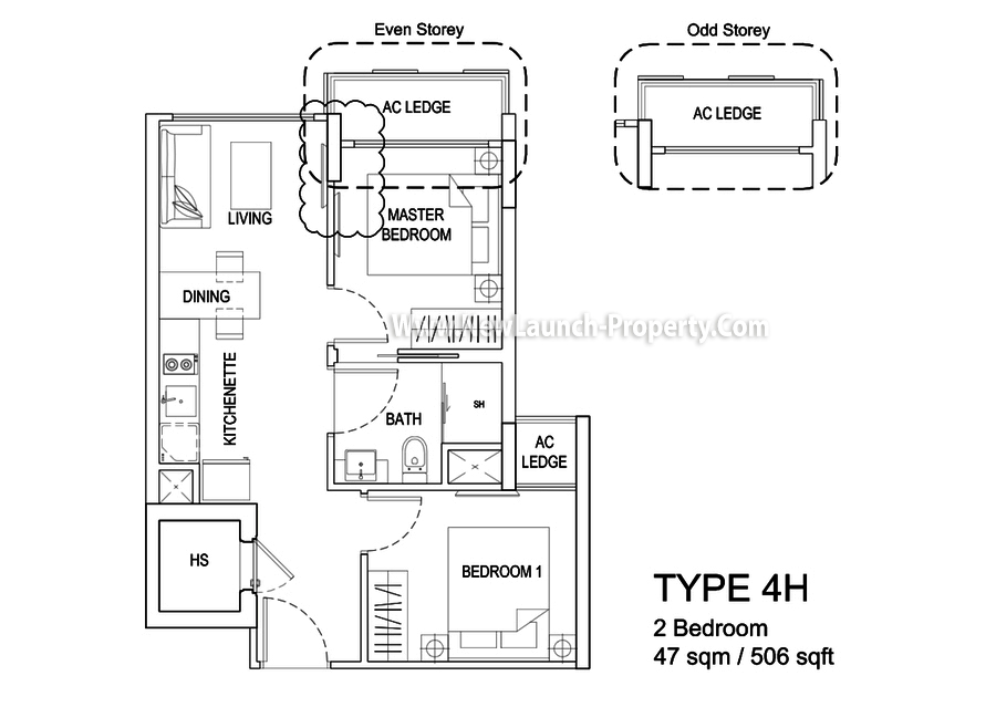 The Hillford FloorPlan Type4H