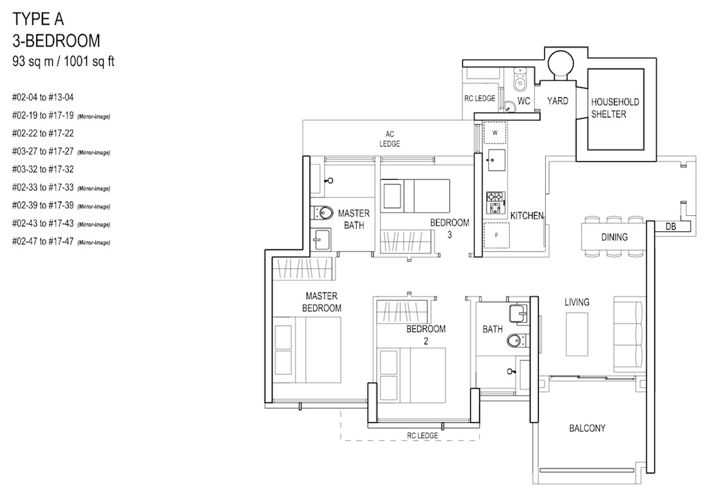 Floor-Plan-3bedroom TypeA