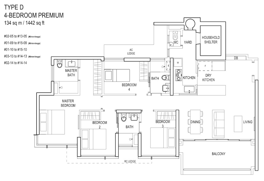 Floor-Plan-4bedroom Prem TypeD