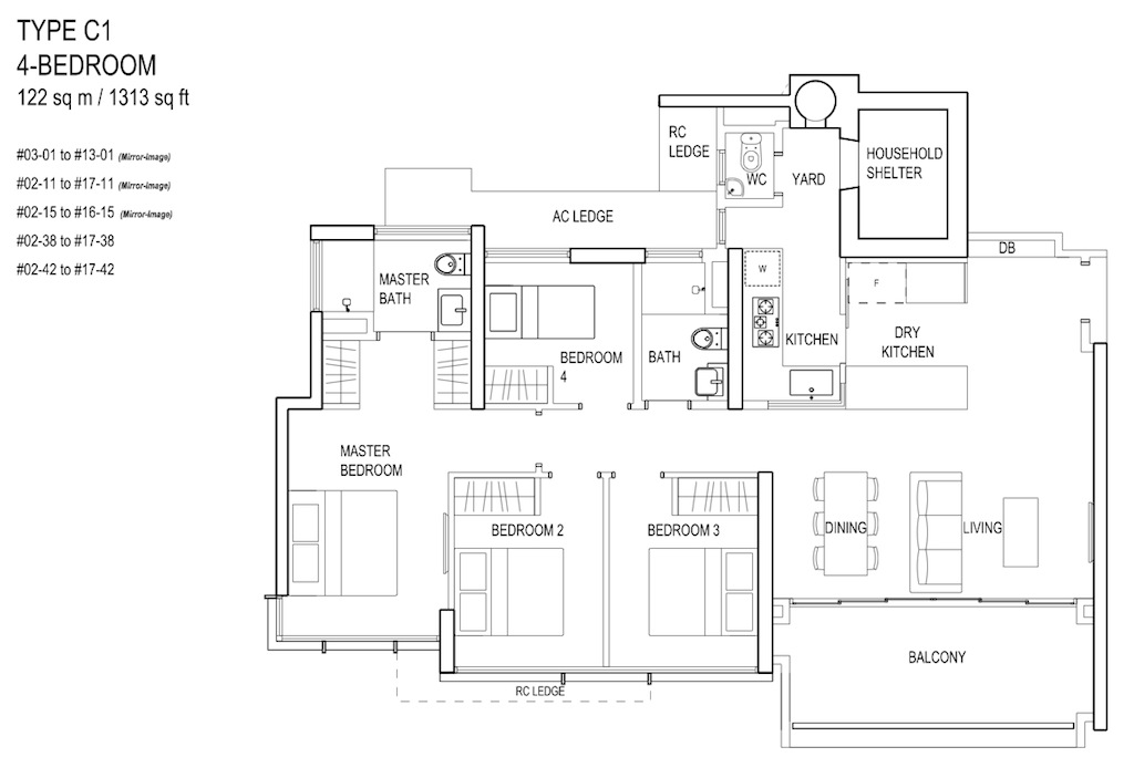 Floor-Plan-4bedroom TypeC1