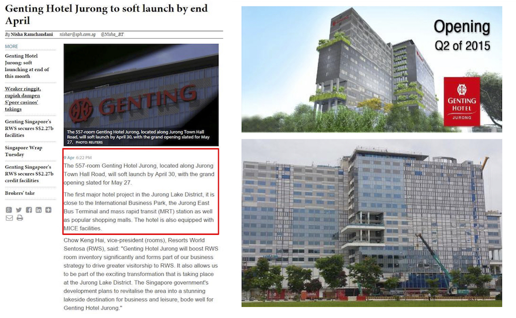 Article Genting Hotel Jurong