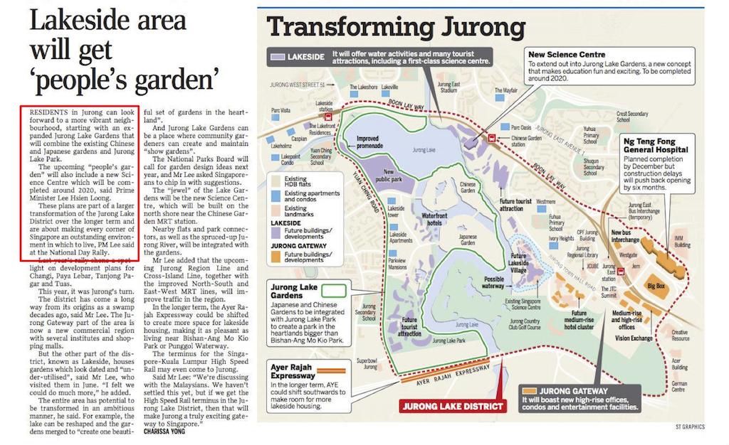 Article Lakeside area will get People Garden