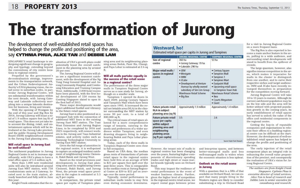 Article The Transformation of Jurong
