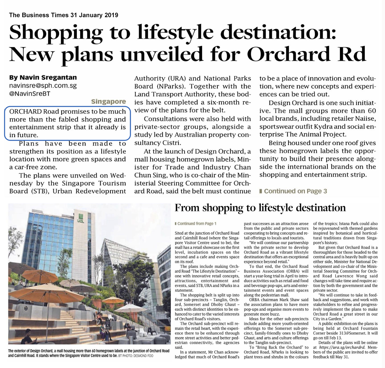 Boulevard 88 Shopping To Lifestyle Destination New plans unveiled for Orchard Road