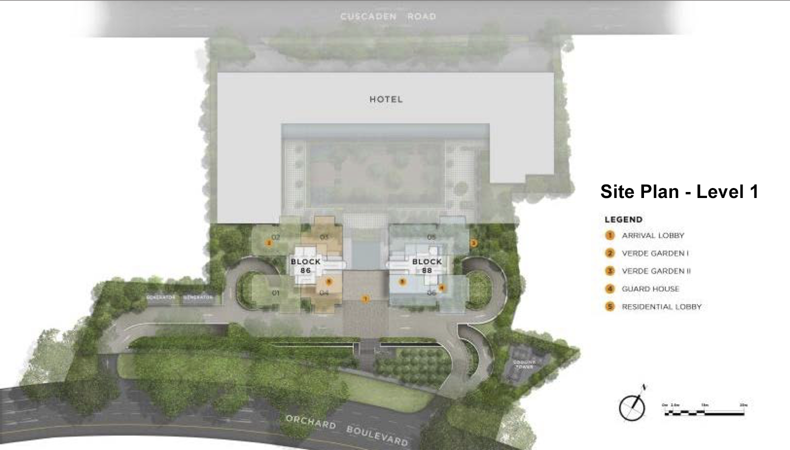 Boulevard 88 Site Plan Level 1