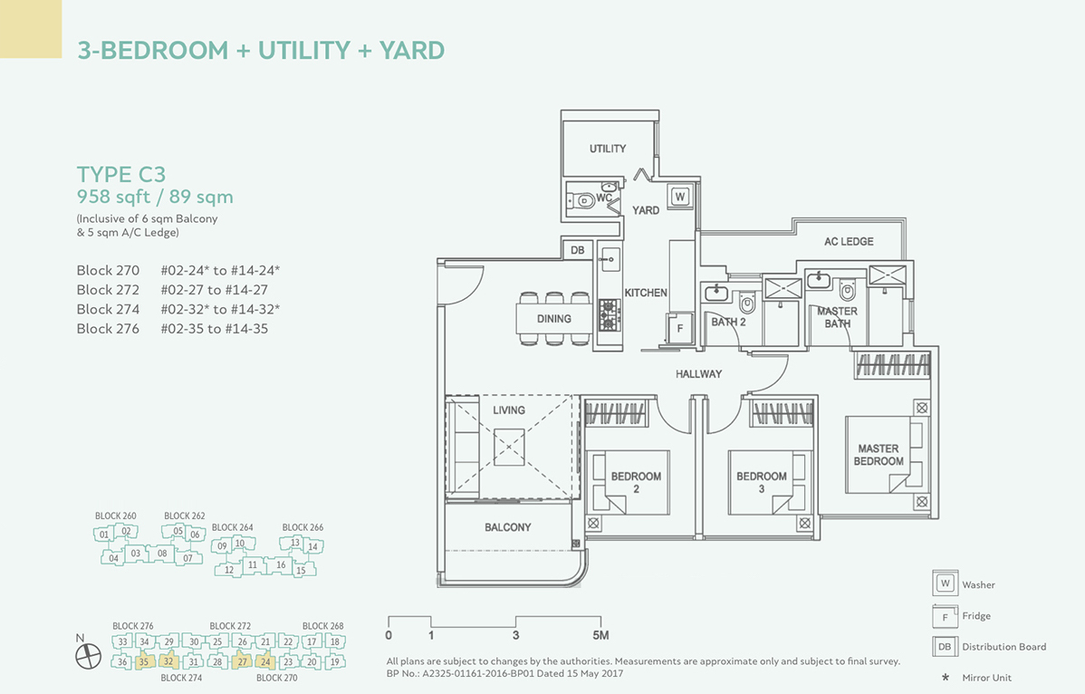 Hundred Palms Residences EC Floor Plan 3 Bedroom C3