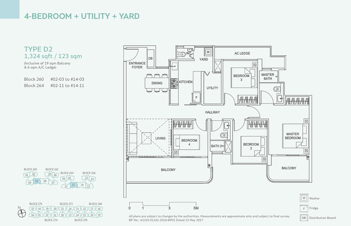 Hundred Palms Residences EC Floor Plan 4 Bedroom D2