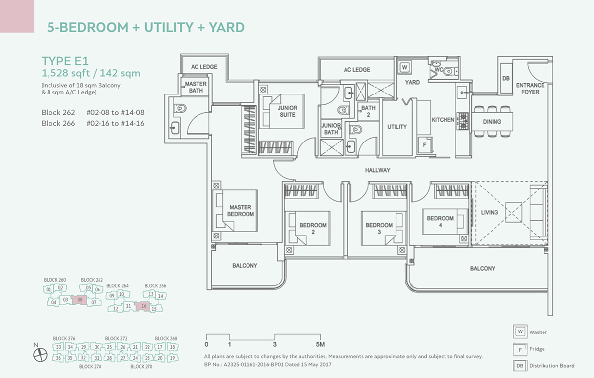 Hundred Palms Residences EC Floor Plan 5 Bedroom E1