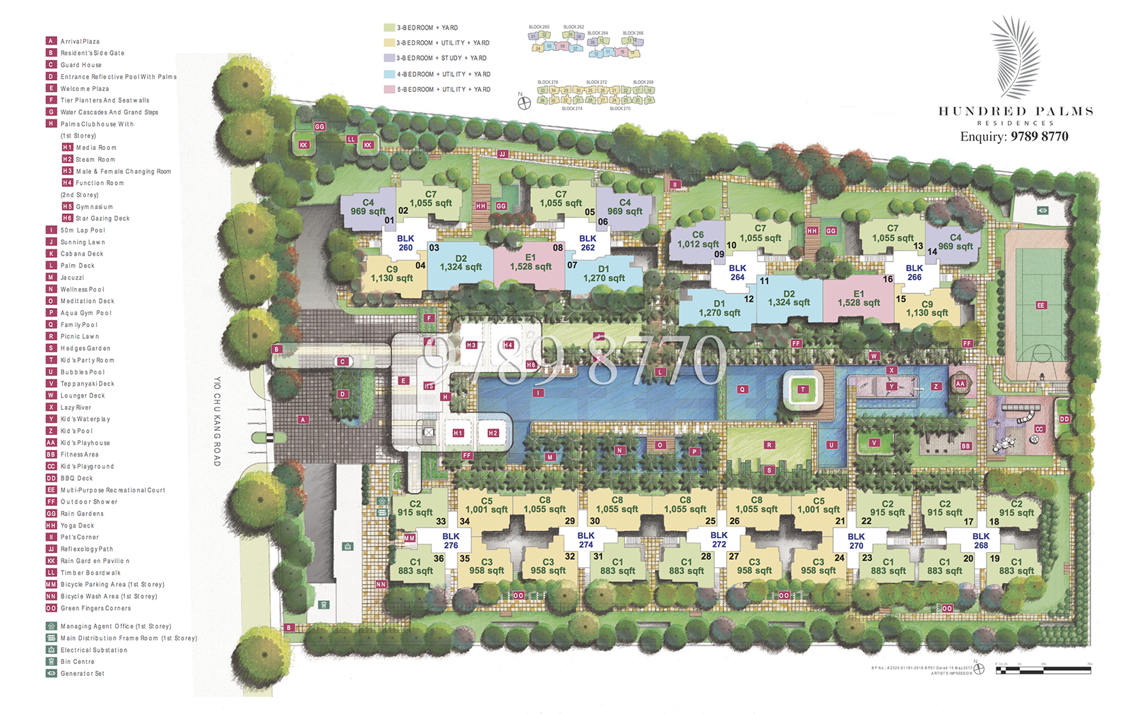 Hundred Palms Residences EC Site Plan
