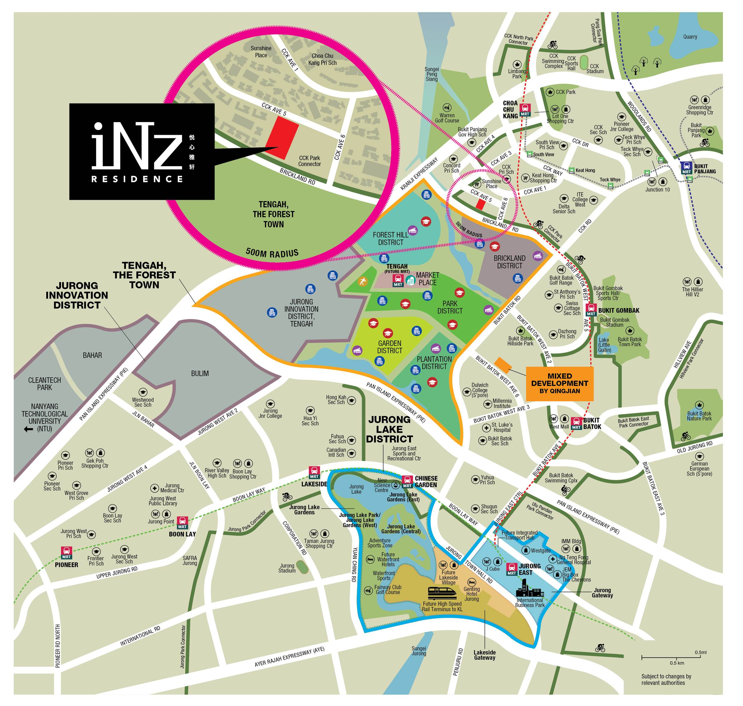iNz Residences Location Plan