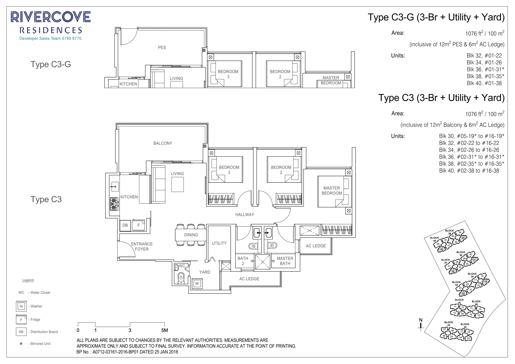 Rivercove Residences Floorplan Type C3