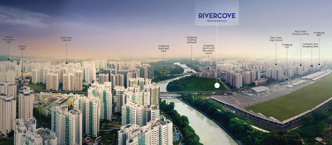Rivercove Residences Location Aerial View