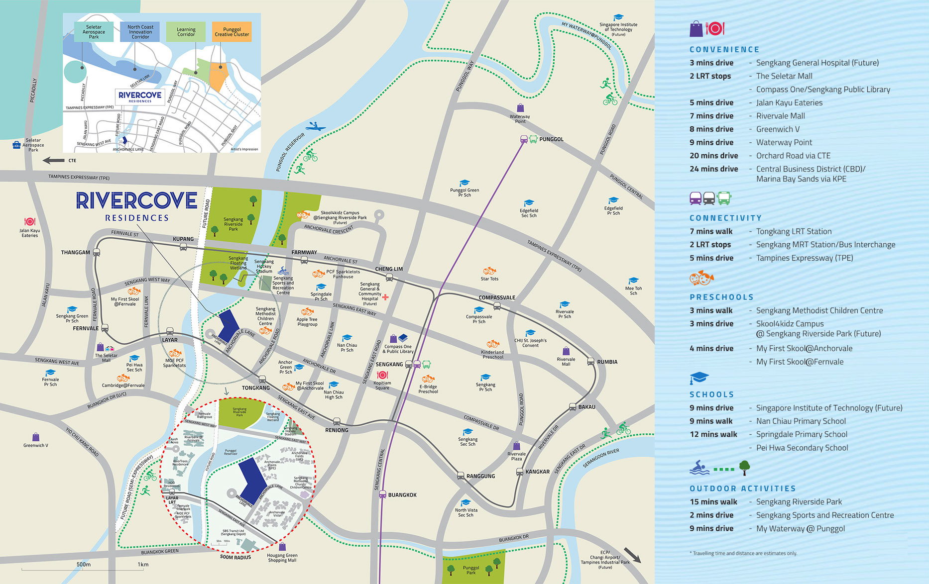 Rivercove Residences Location Map