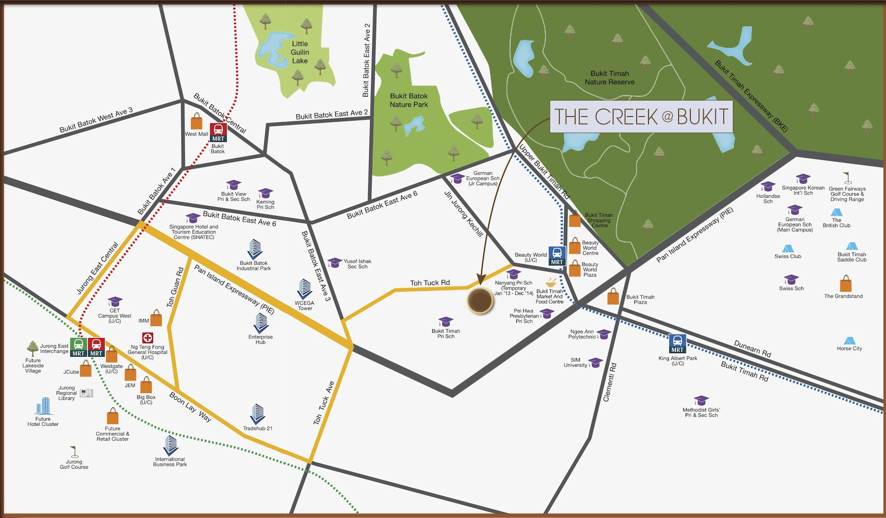 The-Creek-Location-Map