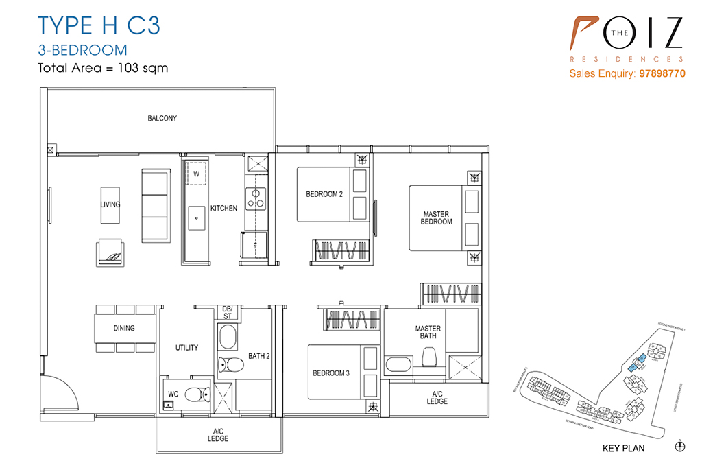 The Poiz Residences At Potong Pasir Floor Plan HC3
