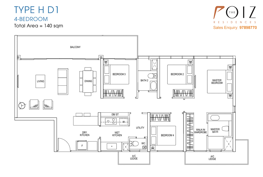 The Poiz Residences At Potong Pasir Floor Plan HD1