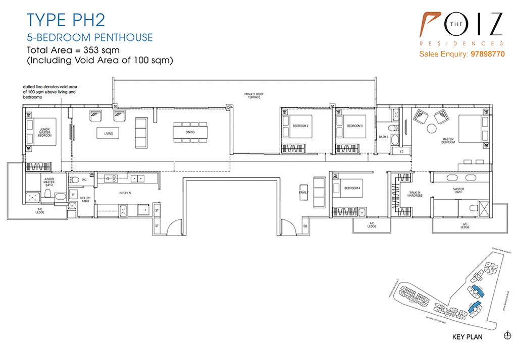 The Poiz Residences At Potong Pasir Floor Plan PH2