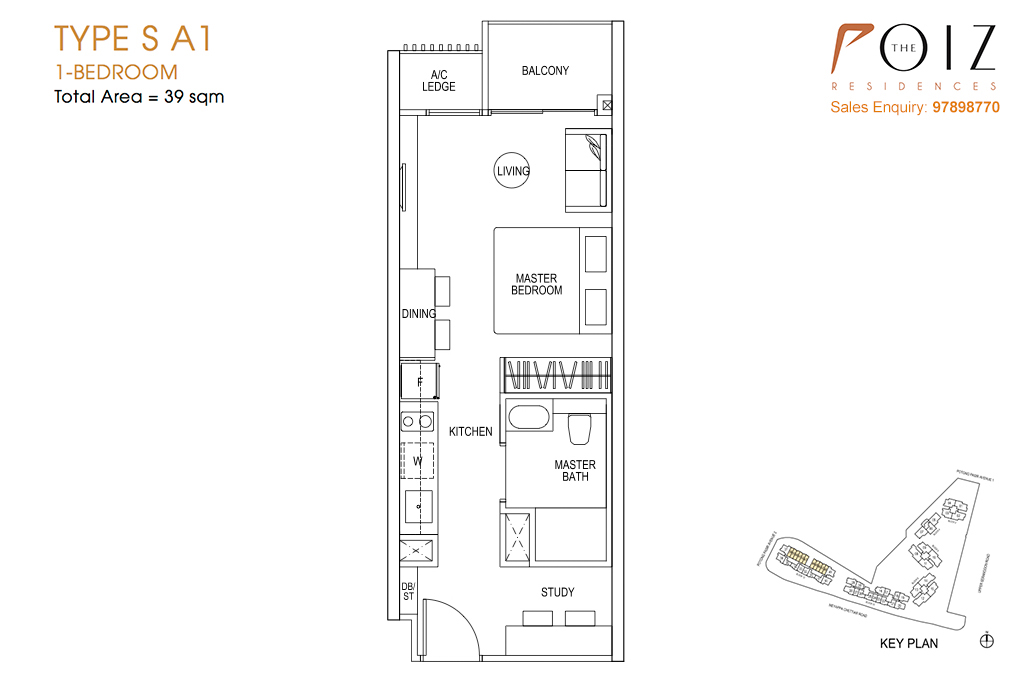 The Poiz Residences At Potong Pasir Floor Plan SA1