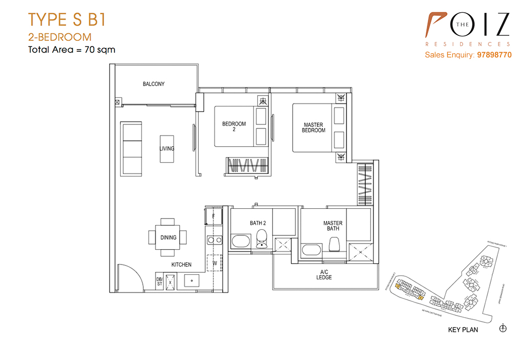 The Poiz Residences At Potong Pasir Floor Plan SB1