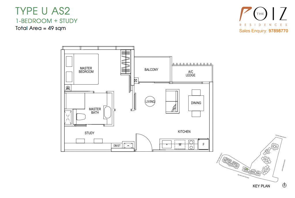 The Poiz Residences At Potong Pasir Floor Plan UAS2