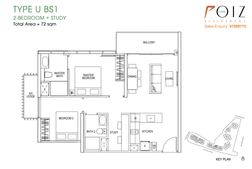 The Poiz Residences At Potong Pasir Floor Plan UBS1