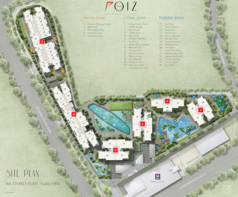 The Poiz Residences Site Plan