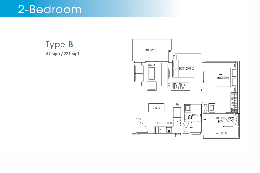 The Visionaire EC Floorplan Type B