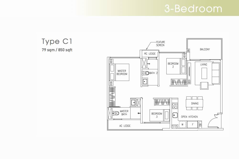 The Visionaire EC Floorplan Type C1