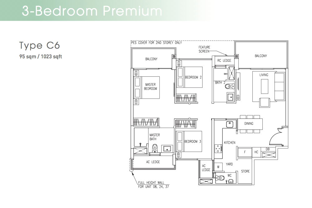 The Visionaire EC Floorplan Type C6