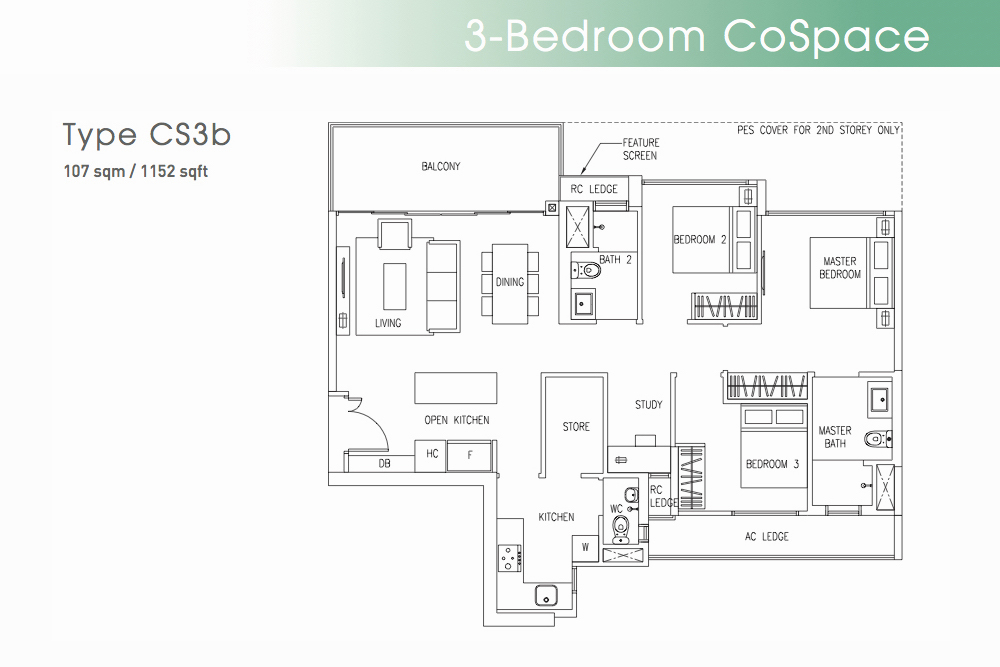 The Visionaire EC Floorplan Type CS3b