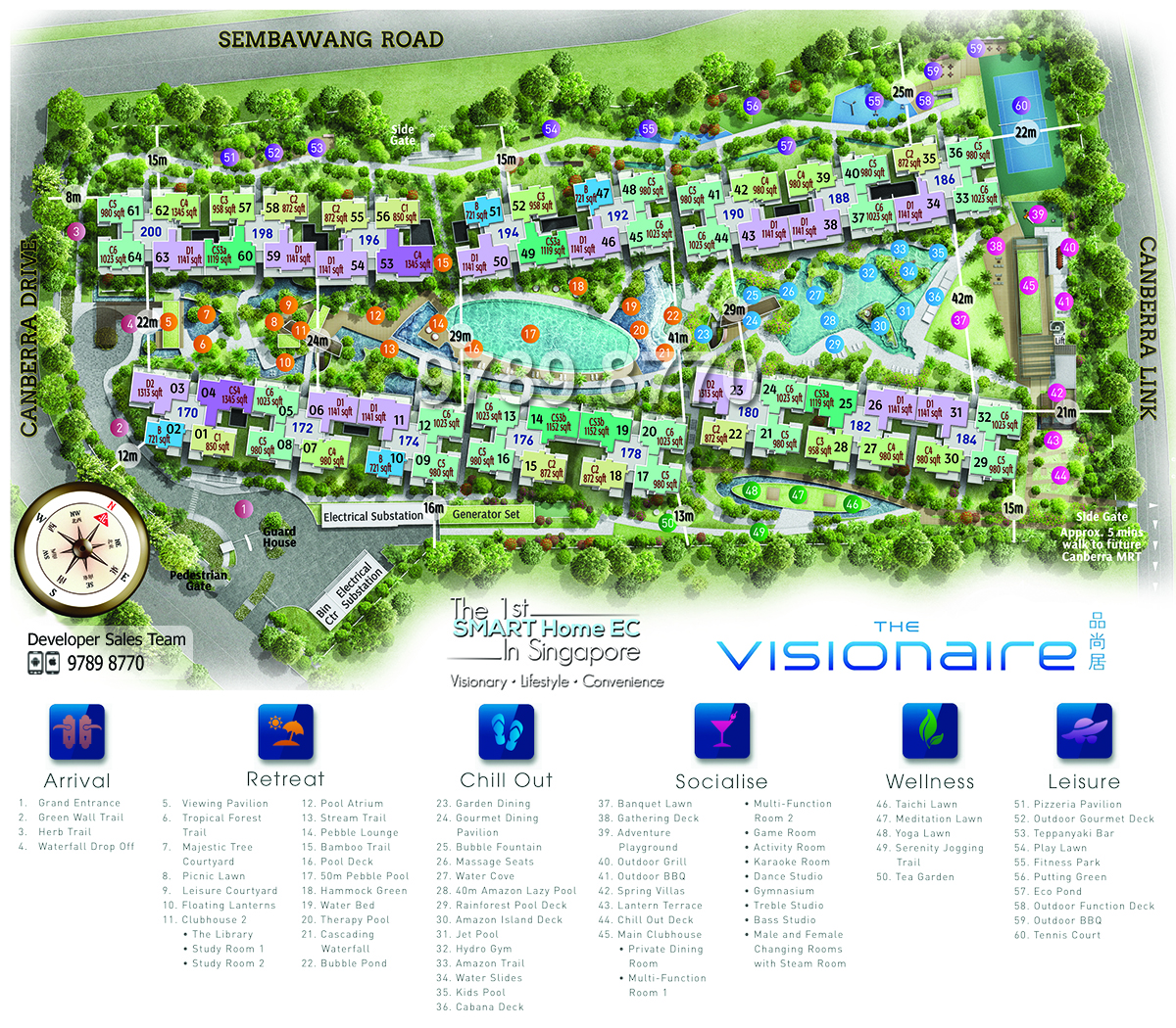 The Visionaire EC Siteplan