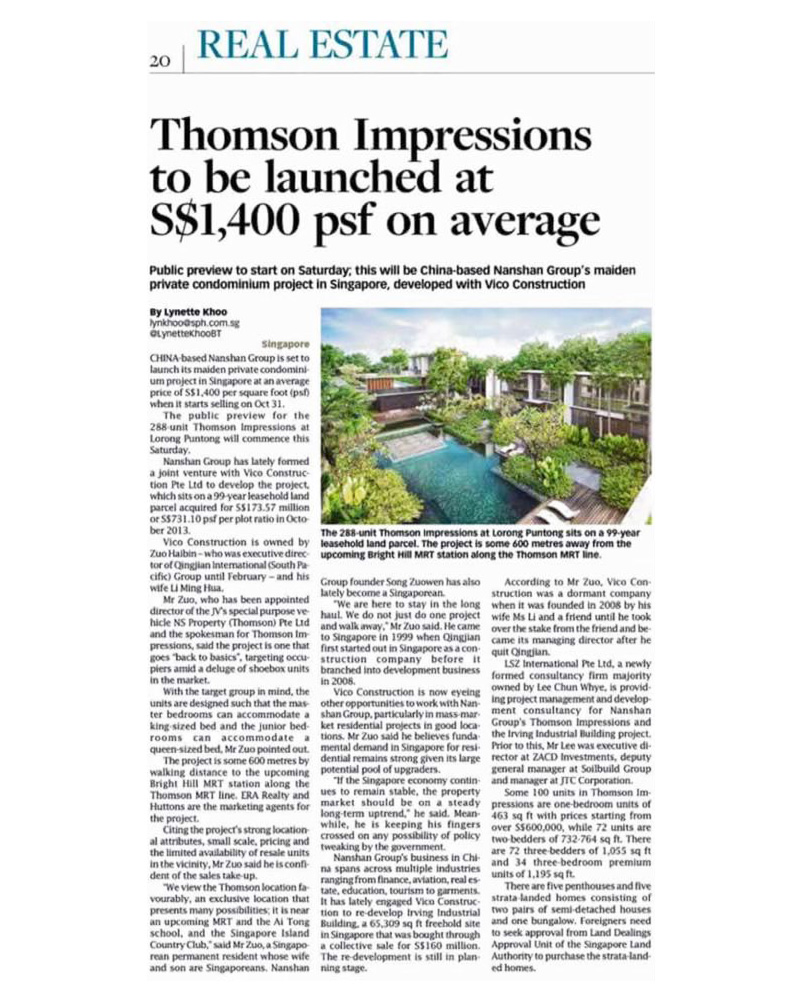 Article Thomson Impressions Average PSF 1400