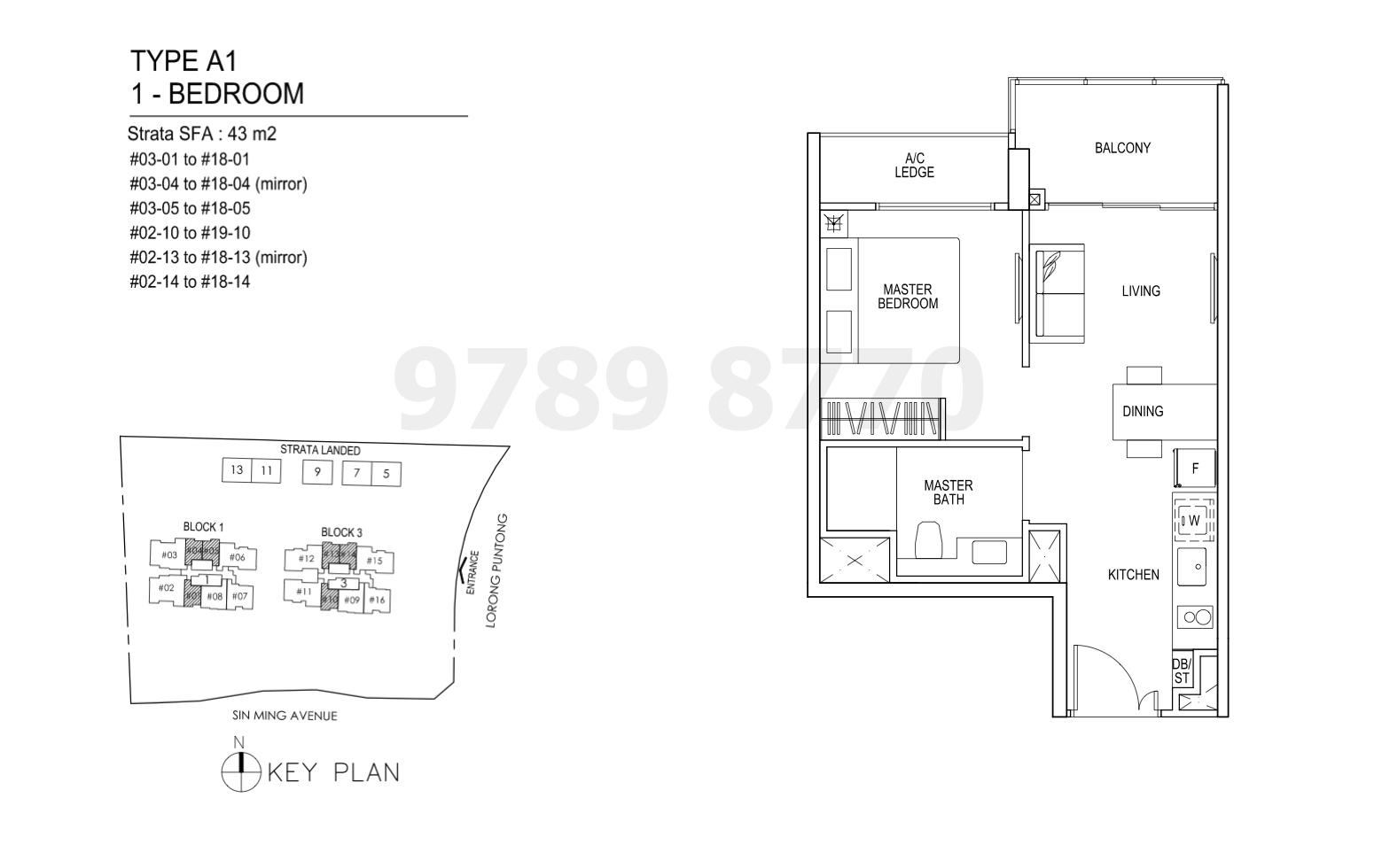 Thomson Impressions Floor Plan Type A1