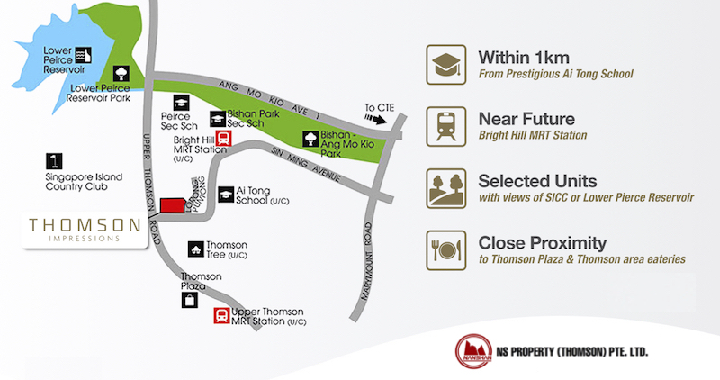 Thomson Impressions Location Map