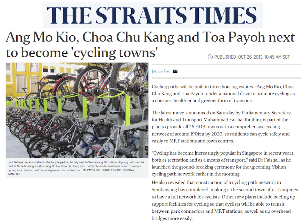 Article Choa Chu Kang Cycling Town