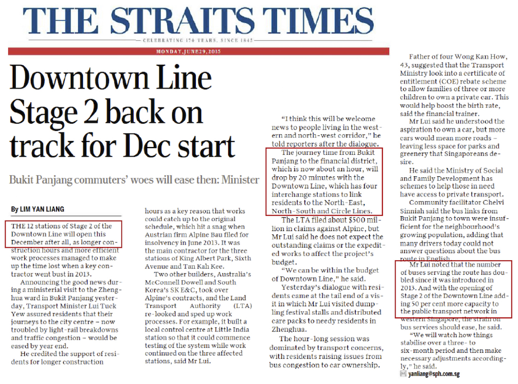 Article Downtown Line Stage 2 back on track for Dec start