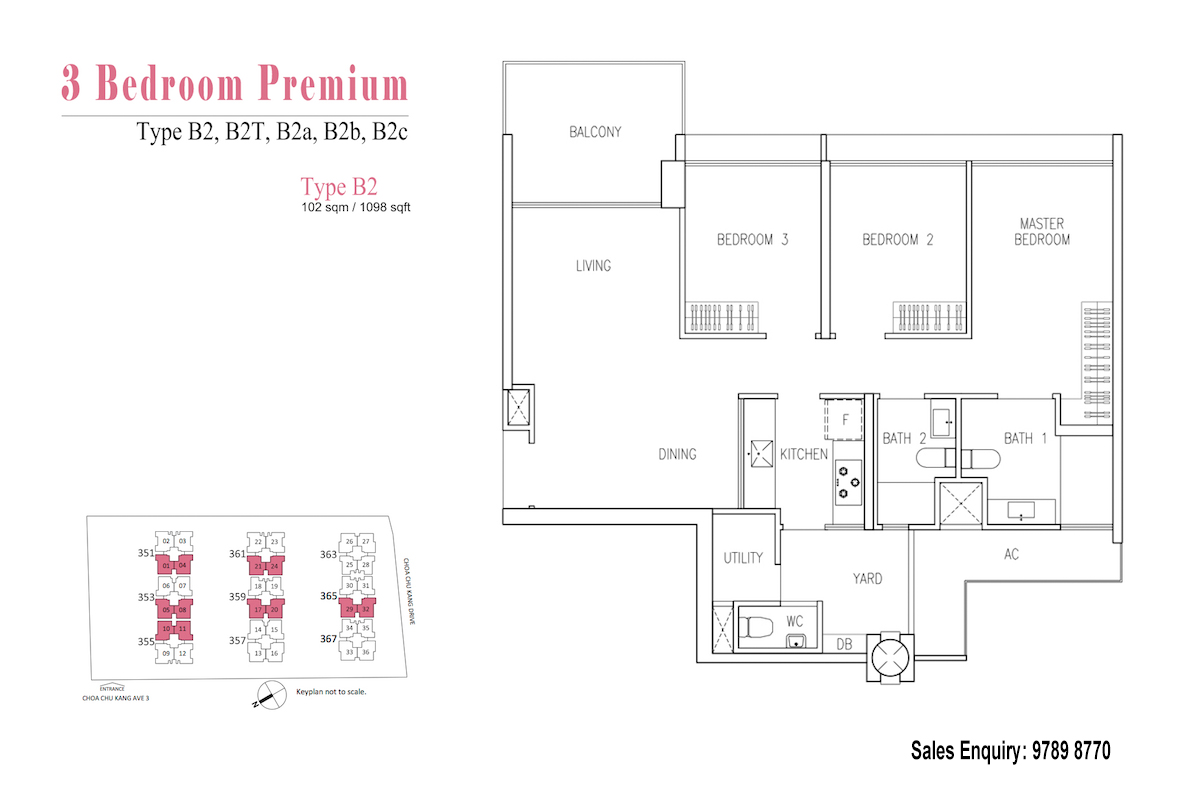 Wandervale EC Floor Plan 3 Bedroom Premium