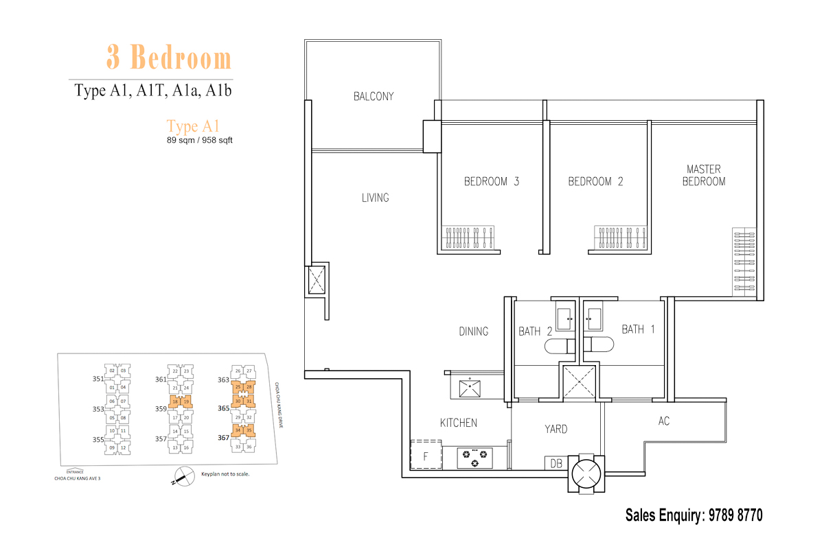 Wandervale EC Floor Plan 3 Bedroom