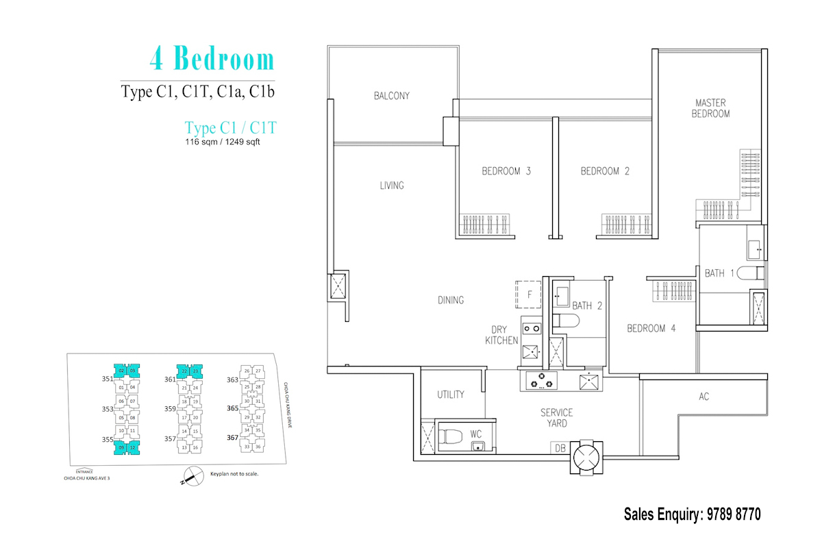 Wandervale EC Floor Plan 4 Bedroom
