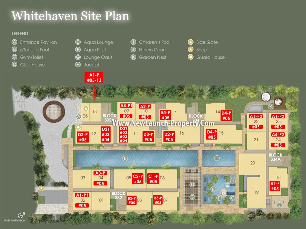 Whitehaven Site Plan